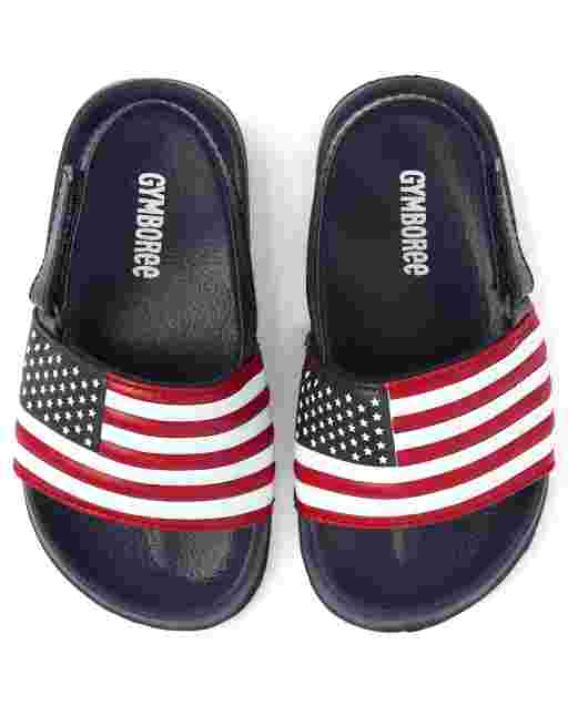 Boys Flag Slides - American Cutie