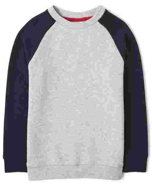 Boys Long Raglan Sleeve Fleece Sweatshirt - Every Day Play