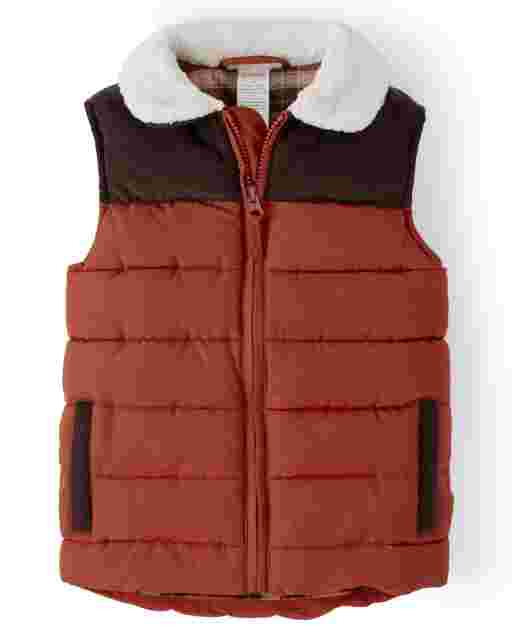 Boys Sleeveless Corduroy Vest - Harvest