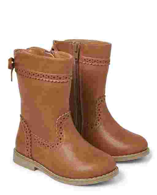 Girls Faux Suede Tall Boots - Every Day Play