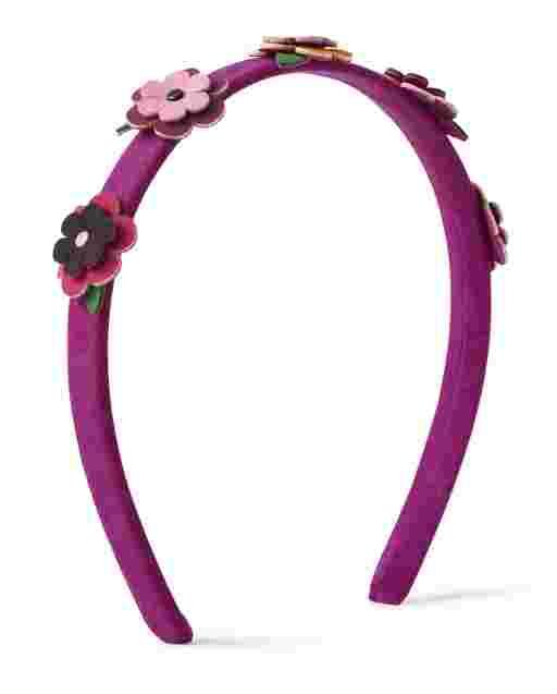 Girls Applique Flowers Headband - Berry Cute