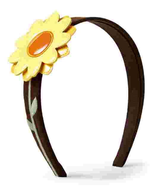 Girls Applique Sunflower Headband - Harvest