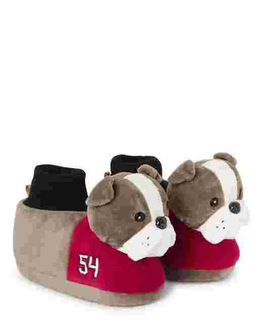 Boys Preppy Puppy Slippers - Gymmies
