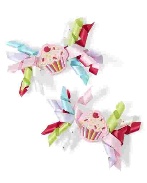 Girls Curly Hair Clips 2-Pack - Birthday Boutique
