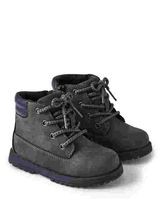 Boys Faux Leather Boots - Preppy Puppy