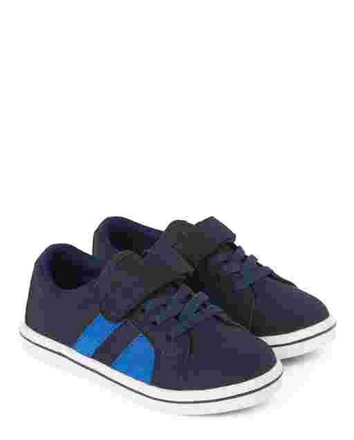 Boys Faux Leather Low Top Sneakers - Demolition Dude