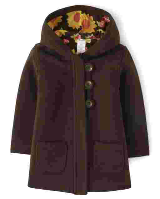 Girls Long Sleeve Sunflower Quilted Jacket - Harvest