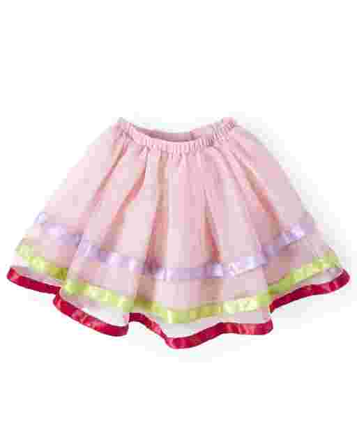 Girls Ribbon Tulle Tutu Skirt - Birthday Boutique