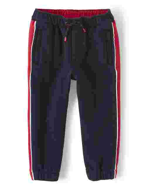 Boys Side Stripe Fleece Jogger Pants - Every Day Play