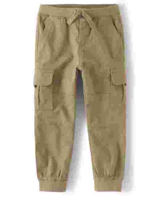Pantalones cargo de sarga sin cordones para niños: juego diario