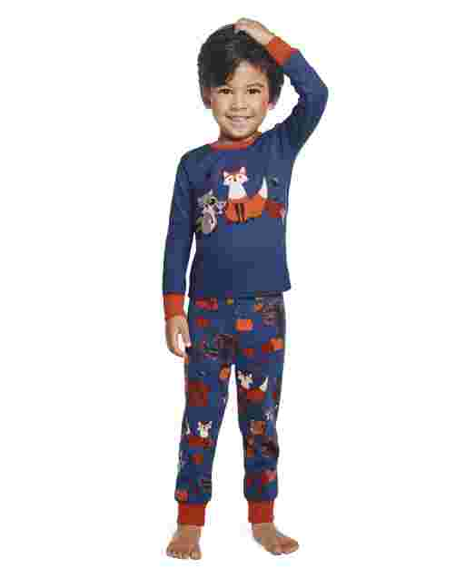 Boys Long Sleeve Harvest Snug Fit Cotton 2-Piece Pajamas - Gymmies