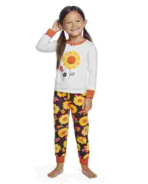 Girls Long Sleeve Harvest Snug Fit Cotton 2-Piece Pajamas - Gymmies