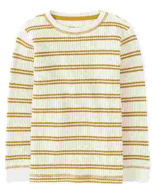 Camiseta térmica de rayas de manga larga para niños - Every Day Play