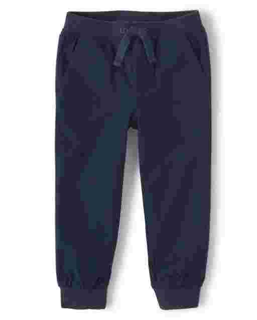 Pantalón jogger sin cordones de sarga para niños: juego diario