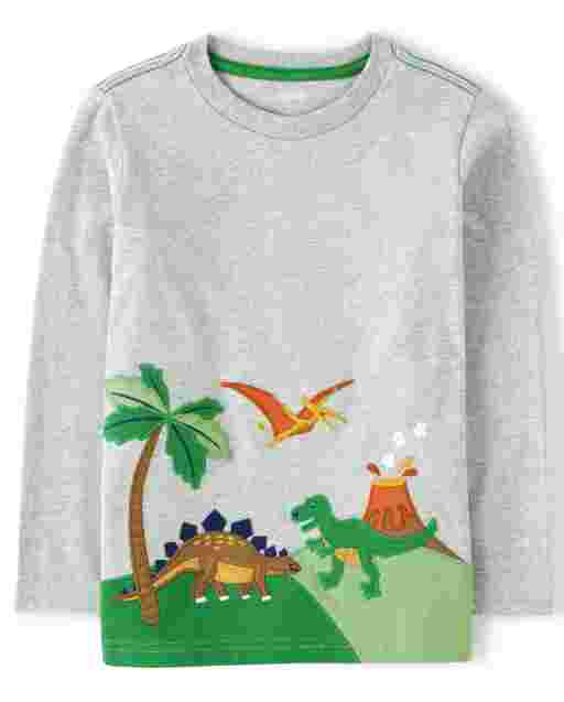 Boys Long Sleeve Dino Top - Dino Roar
