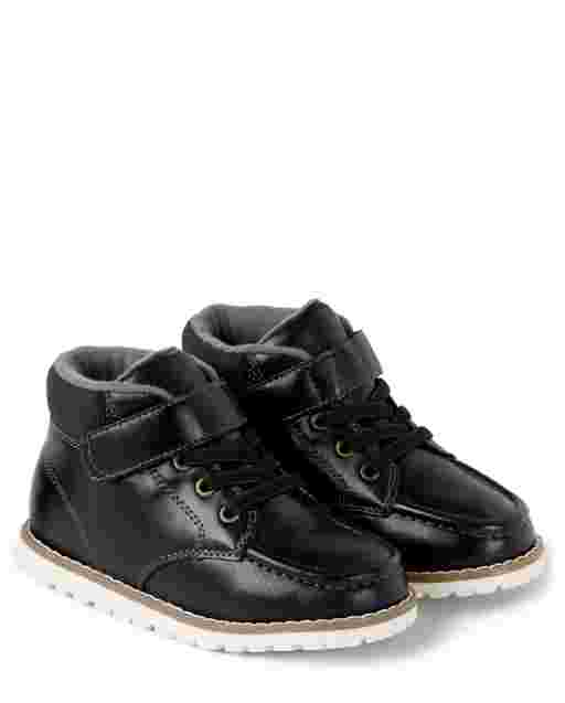 Boys Faux Leather Classic Boots - Picture Perfect