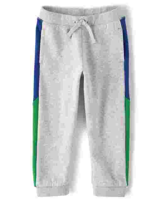 Boys Fleece Colorblock Jogger Pants - Dino Roar