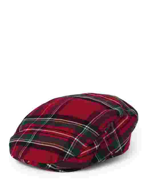 Boys Plaid Newsboy Hat - Picture Perfect