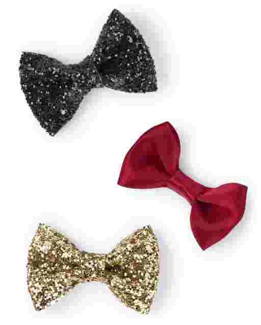 Girls Bow Hair Clips 3-Pack - Picture Perfect