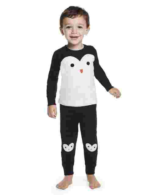 Boys Long Sleeve Penguin Snug Fit Cotton 2-Piece Pajamas - Gymmies