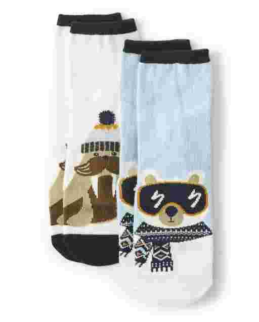 Boys Crew Socks 2-Pack - Aspen Lodge