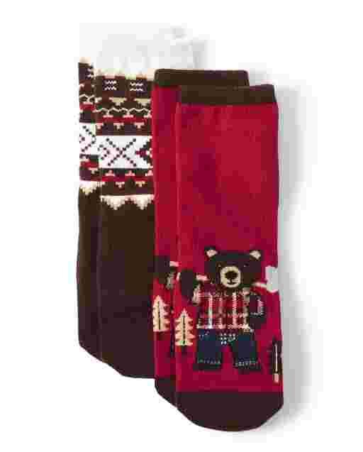 Boys Crew Socks 2-Pack - Moose Mountain