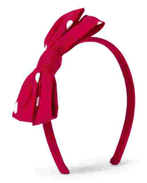 Girls Bow Headband - Valentine Cutie
