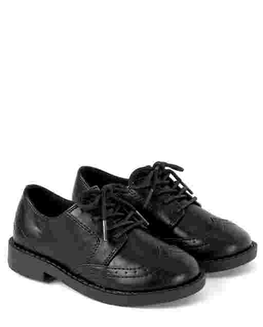Boys Faux Leather Dress Shoes - Picture Perfect