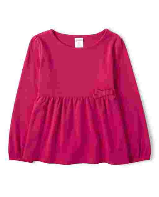 Girls Long Sleeve Bow Top - Every Day Play