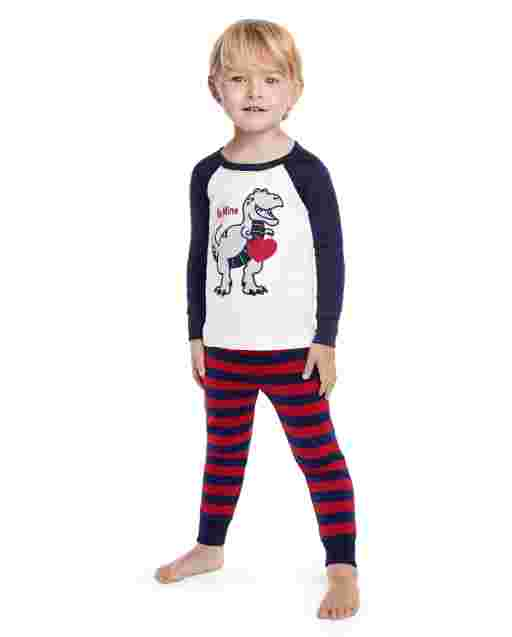Boys Long Sleeve Valentine's Cutie Snug Fit Cotton 2-Piece Pajamas - Gymmies