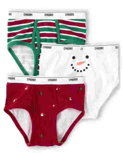 Boys Snowman Briefs 3-Pack