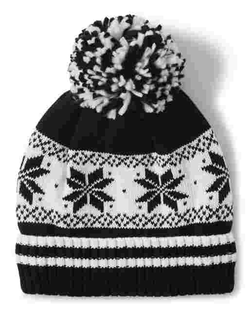 Boys Snowflake Fairisle Pom Pom Hat - Picture Perfect