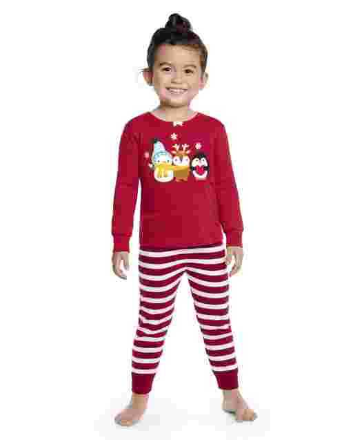 Girls Long Sleeve Winter Critter Snug Fit Cotton 2-Piece Pajamas - Gymmies