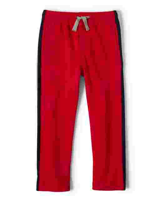 Boys Side Stripe French Terry Sweatpants