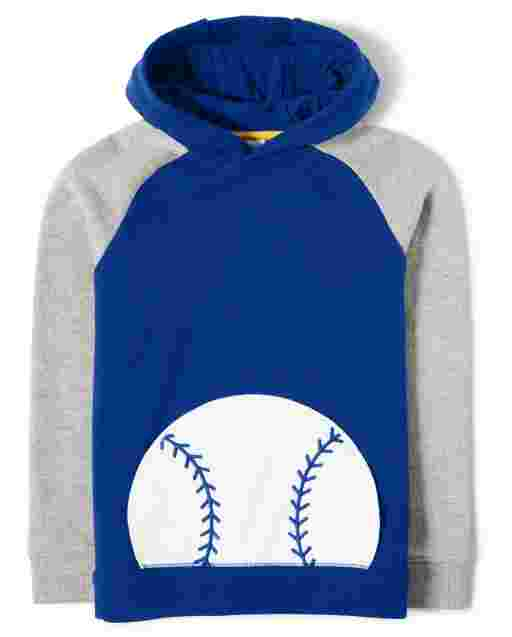 Boys Long Sleeve Baseball French Terry Hoodie - Lil Champ