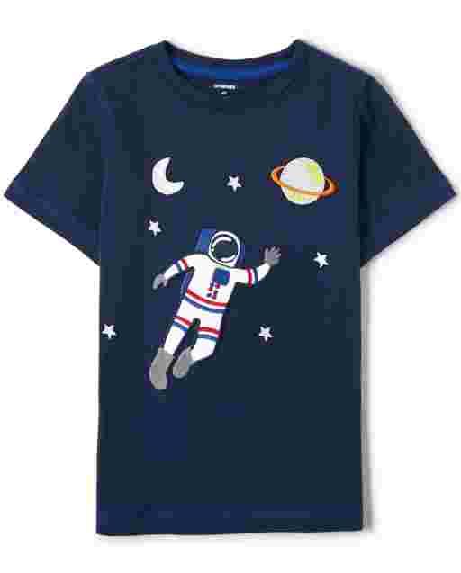 Unisex Short Sleeve Embroidered Astronaut Top - Future Astronaut