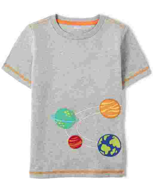 Unisex Short Sleeve Embroidered Solar System Top - Future Astronaut
