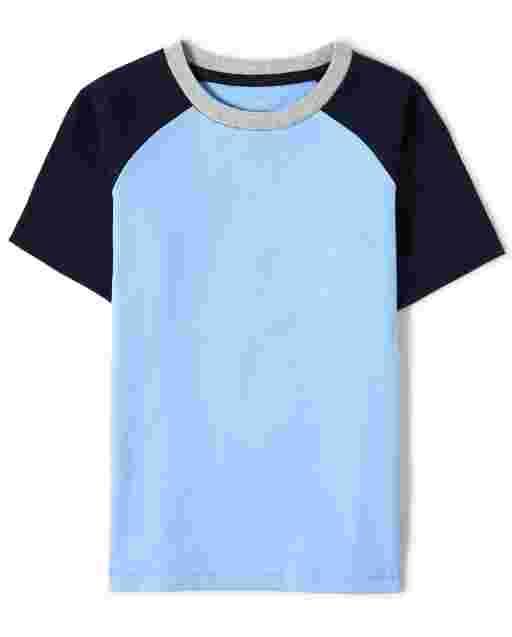 Boys Short Raglan Sleeve Top