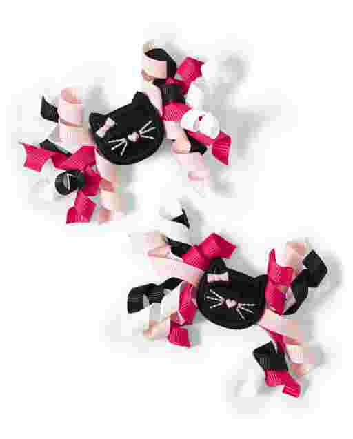 Girls Cat Curly Hair Clips - Puuurfect In Paris