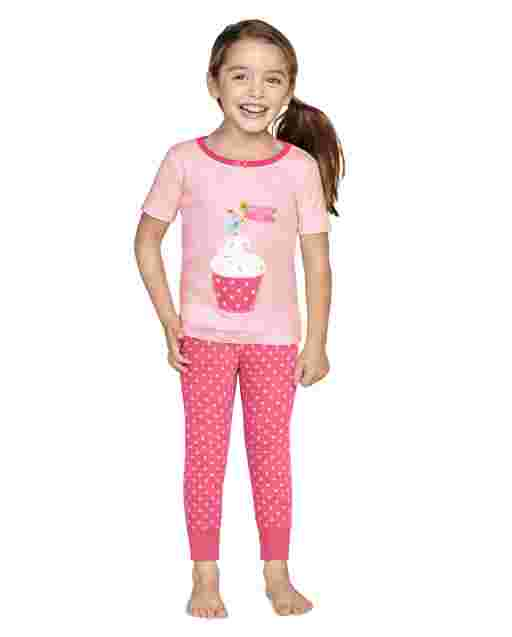 Girls Short Sleeve Birthday Boutique Snug Fit Cotton 2-Piece Pajamas - Gymmies