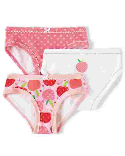 Girls Peach Briefs 3-Pack