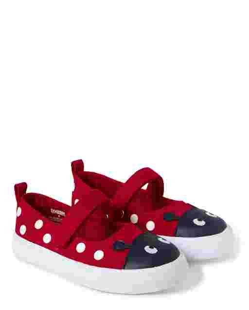 Girls Ladybug Polka Dot Sneakers - Little Ladybug