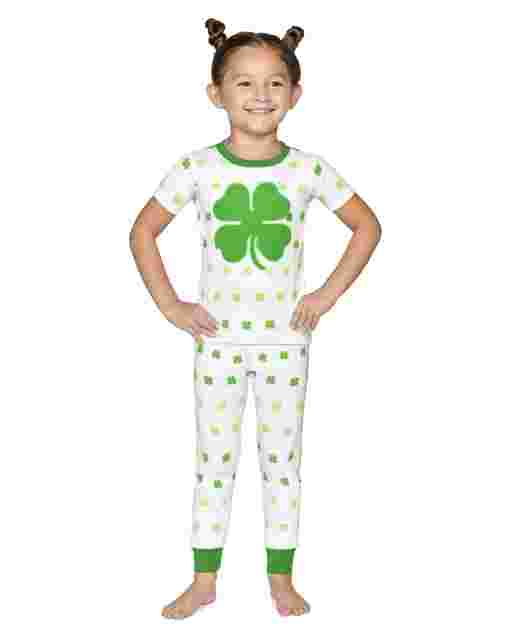 Unisex Short Sleeve Little Leprechaun Snug Fit Cotton 2-Piece Pajamas - Gymmies