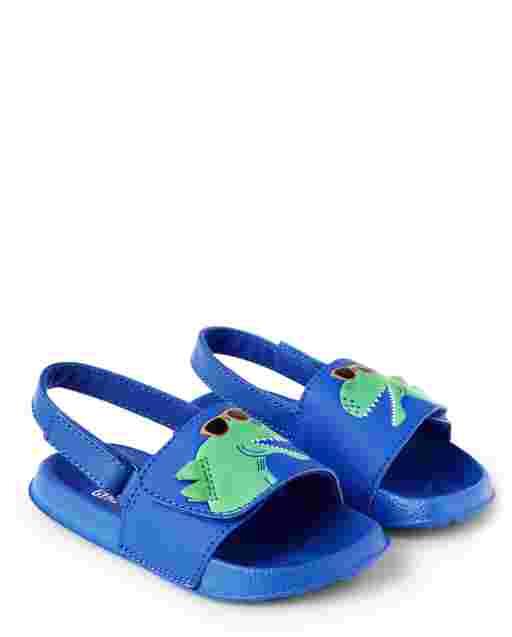 Boys Dino Spike Slides - Hello Dino