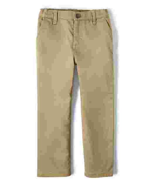 Boys Woven Stretch Twill Pants