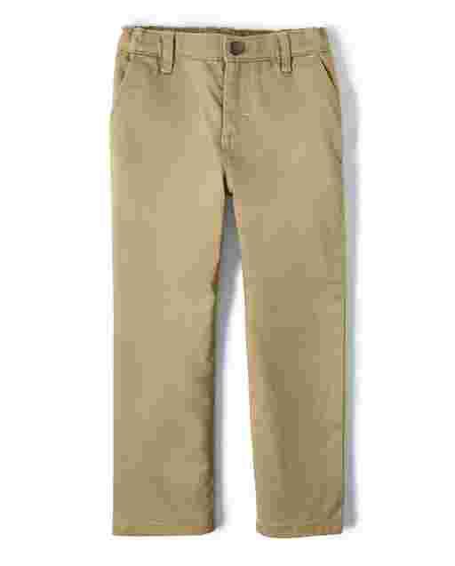 Pantalones de sarga elástica tejidos para niños