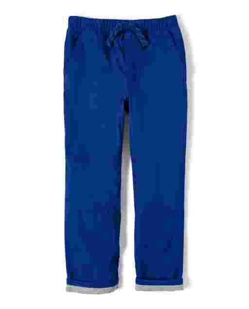Pantalones de popelina con forro sin cierres para niño - Lil Champ