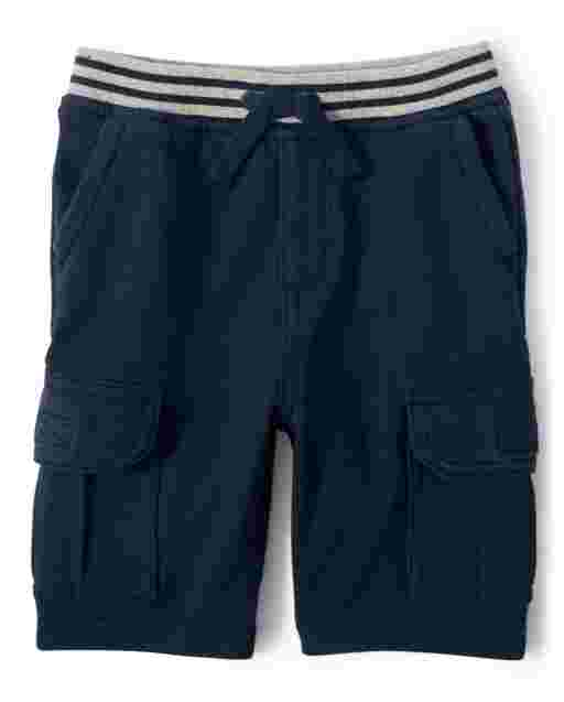 Boys French Terry Knit Cargo Shorts