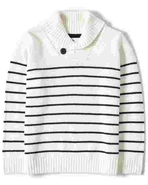 Boys Long Sleeve Striped Nautical Sweater - All Aboard