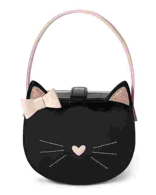 Girls Faux Patent Leather Cat Bag - Puuurfect In Paris